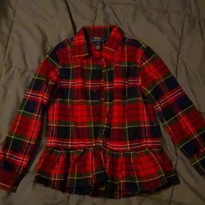 Girls size 6 Polo Ralph Lauren flannel shirt